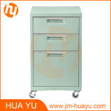 居間のための多彩なOffice Furniture 3 Drawers Rolling Metal Storage Cabinet、Officeおよび寝室