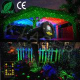 Luz laser al aire libre, luz de la Navidad del laser, proyector al aire libre de la luciérnaga móvil de Red&Green del laser