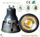 5W regulable MR16 LED COB Iluminación