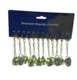 De Gouden Zwitserse Koebels van Keychains met de Verpakking Keychains van de Kaart van de Kopbal