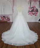 AG144重いビーズのテュルのAラインの花嫁の婚礼衣裳