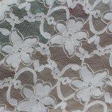 Telas de nylon florales del cordón de la gasa del estiramiento para las alineadas de boda