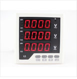 디지털 산업 LED 전압계 3 단계 전기 전압 미터