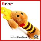 Juguete relleno por encargo del animal doméstico de la felpa del muñeco de nieve rojo