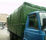 Bâche de protection enduite bleue de PVC pour le camion