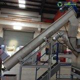 Botella del HDPE que machaca la máquina de reciclaje plástica de sequía que se lava