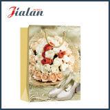 광택 있는 박판으로 만들어진 아이보리페이퍼 결혼식 단화 쇼핑 선물 종이 봉지