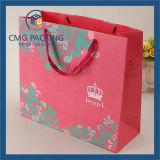 Saco de papel cosmético branco elegante colorido (DM-GPBB-166)