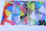 Frauen-Form-Geometrie gedruckter Polyester-Chiffon- Unbegrenztheits-Schal (YKY1119)