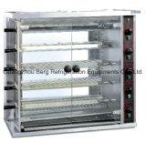 Rotisserie vertical commercial de poulet de gaz d'acier inoxydable