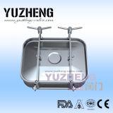 Cubierta de boca redonda sanitaria de Yuzheng con el vidrio de vista