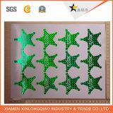 Etiqueta engomada transparente adhesiva impresa papel de la impresión de la escritura de la etiqueta de la etiqueta de cinco estrellas