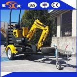 Remorque d'échelle pour le chargeur et l'excavatrice de transport