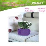 Potenciômetro de flor reusável da tela de feltro do jardim Oh-Lw-002