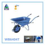 Тачка конструкции Wb6400 горячего сбывания прочная стальная, конструкция, курган колеса сада