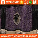Damassé lavable de papier peint de vinyle de prix usine de la Chine