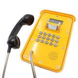 Telefono robusto industriale impermeabile dell'affissione a cristalli liquidi del telefono Knsp-16 di VoIP del telefono del traforo