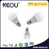 Blanco fresco/caliente Plastico LED de la luz de bulbo de aluminio baja de E27/B22/E14