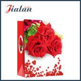 Regalo día de rosas rojas de Marfil de papel comercial bolsa de papel de San Valentín