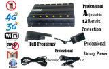 シグナルのJammer GPS WiFi VHF UHF Interphone Signal Jammer 3G 4G GSM CDMA Cell Phone Signal Jammer /Blocker Full Frequency Adjustable12 Antennas