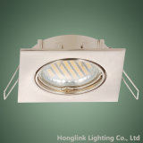 Blanco Aluminio GU10 MR16 LED techo ajustable Downlight cuadrado empotrado