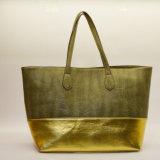 Sac d'emballage de couleur en métal d'or de femmes