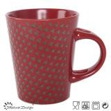 Taza de encargo roja del diseño del color del metal