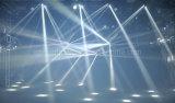 8PCS 10W 거미 효력을%s 가진 백색 크리 사람 LED 이동하는 헤드