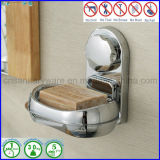 ABS Wall Mounted Suction Soap Dish Holder Bathroom Fitting con Chromed