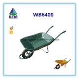 Wheelbarrow de aço durável da construção Wb6400 da venda quente, construção, carrinho de mão de roda do jardim