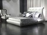 2016 Nieuw Bed ls-413 van de Verkoop van het Bed van de Inzameling Heet Bed van het Leer Faux van de Bedden van het Hotel van het Ontwerp het Italiaanse Koningin Bed