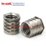 Noix auto-fileteuse de garniture intérieure d'acier inoxydable