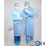 Medizinischer gestrickter Stulpe Elementaroperation-Entkeimter SBPP/PE/PP+PE/SMS Lokalisierungs-Kleid-chirurgisches Kleid-preiswerter Preis