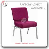 Chaise extérieure de plate-forme d'église de tissu rose foncé de Rose (JC-48)