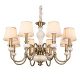 Wholesale Retail (SL2253-8)를 위한 자연적인 Marble Iron Metal Chandelier