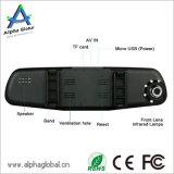 """HD DVR Auto-Dach-Kasten 4.3 """" LCD-hintere Spiegel-Vorderseite-Rückseiten-Doppelkamera"""