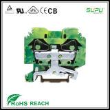 2 bloques de terminales del conductor de etiqueta de plástico lateral de la cara de la entrada