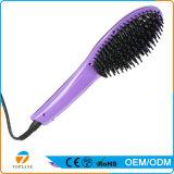 O cabelo elétrico da escova da forma nova que endireita o auto pente com temperatura do LCD indica-nos ou a UE obstrui escolhe