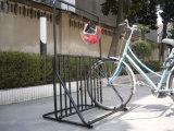 多機能の粉上塗を施してある金属フレームの自転車ラックPV003