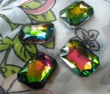 Selling caldo Vitrail 18X13mm Octagon Glass Gems sventato