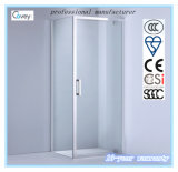Dobradiça Porta / 6mm / 8mm Tempered Glass Shower Cabine Quarto / chuveiro (A-KW09)