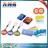 Tarjeta de epoxy barata del precio NFC con la impresión de encargo de la insignia