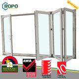 Los paneles plásticos del exterior 4 del acero de UPVC/Pvcu plegables la puerta del patio