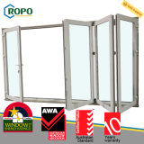 UPVC / Pvcu Plastic Steel Exterior 4 Painéis Porta do pátio dobrável