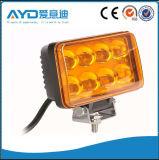 24W 노란 색깔 트럭 LED 작동 빛