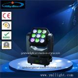2015 populäres 9PCS*10W 3*3 bewegliches Hauptlicht der Matrix-LED
