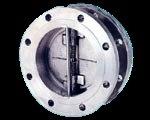 Tipo duplo válvula da flange do dobro da placa da bolacha de verificação