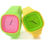 Montre interchangeable de gelée de silicone de mouvement de quartz du Japon de qualité