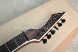 Musique de Hanhai/guitare 6-String électrique noire avec le corps de cendre