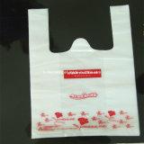 قبلت عالة يطبع يصدق قابل للتفسّخ حيويّا بلاستيكيّة [ت-شيرت] حقيبة